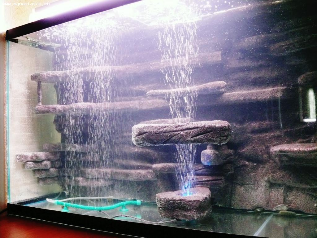 Фон в аквариум сделать своими руками