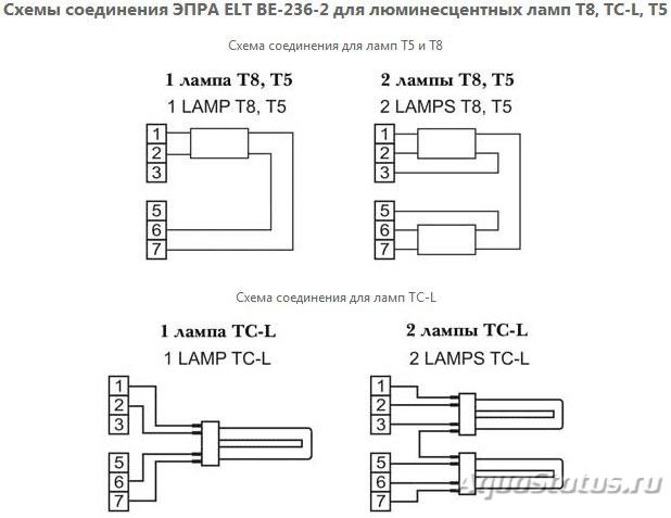 Схема подключения лампы 2g11