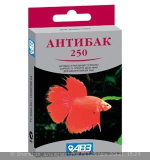 Лечение рыб справочник лекарственнных препаратов для аквариумных рыб  - антибак250.jpg