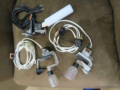 Три собранные системы датчиков. Для безопасности от сетевого напряжения обмазаны клевым пистолетом. - 2.JPG