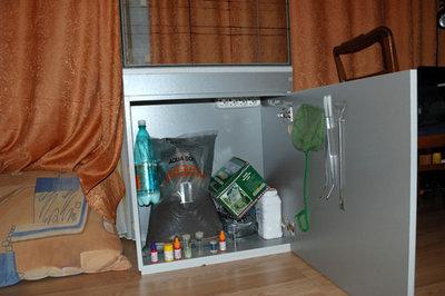 24.01.2009 Ламинат лежит, аквариум на своем месте, можно приступать к запуску. - 11.jpg