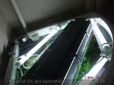 Освещение аквариума 190 литров - Вентилятор на ФИЛЬТРЕ..jpg